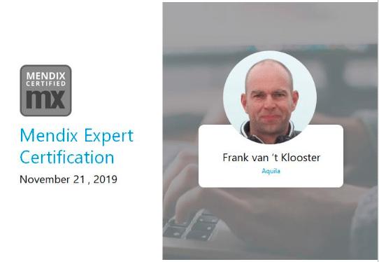 Frank Mendix Expert Certificate