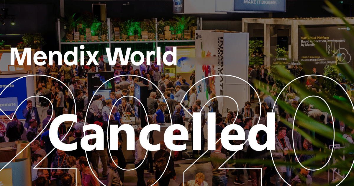 Mendix World 2020 gecanceld