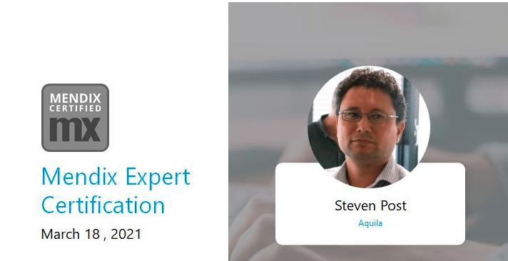 Mendix Expert certificate